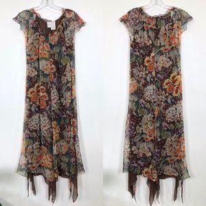 Max Mara Silk Floral Dress